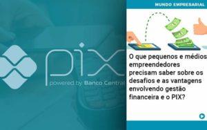 O Que Pequenos E Médios Empreendedores Precisam Saber Sobre Os Desafios E As Vantagens Envolvendo Gestão Financeira E O Pix Organização Contábil Lawini - i9 Contabilit